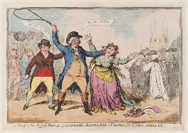'A proof of the refin'd feelings of an amiable character, lately a candidate for a certain ancient city', by James Gillray, June 1796? - NPG  - © National Portrait Gallery, London