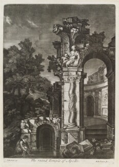 The Ruined Temple of Apollo, by Robert Robinson, published by  Isaac Beckett - NPG D11813