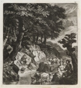 Couple of herders by a cascade, published by John Smith, after  Robert Robinson - NPG D11823