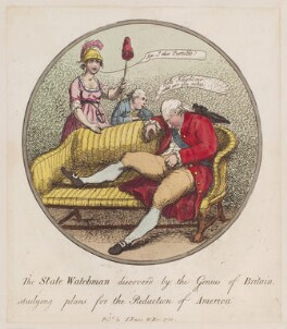 King George III, by Thomas Rowlandson, published by  I. Jones - NPG D12289