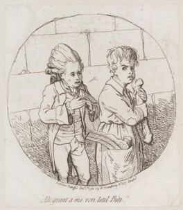 'Ah, grant a me von letel bite', by James Gillray, published by  William Humphrey, published 1 December 1780 - NPG  - © National Portrait Gallery, London