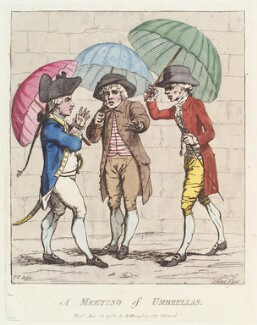 'A meeting of umbrellas', by James Gillray, published by  William Humphrey, published 25 January 1782 - NPG  - © National Portrait Gallery, London