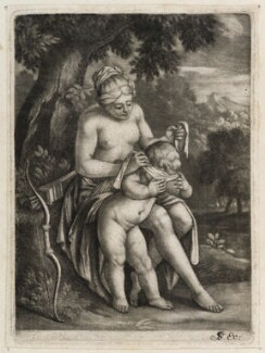 Cupid blindfolded, published by John Smith - NPG D11837