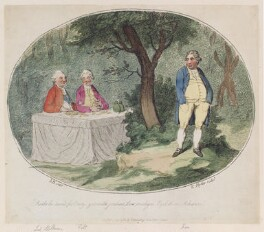 'Aside he turn'd for envy, yet with jealous leer malign, eyd them askance', by James Gillray, published by  Hannah Humphrey, published 12 December 1782 - NPG  - © National Portrait Gallery, London