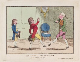 'The German dancing master', by James Gillray, published by  Hannah Humphrey, published 5 April 1782 - NPG  - © National Portrait Gallery, London