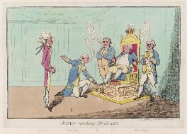 'Rodney introducing de Grasse', by James Gillray, published by  Hannah Humphrey - NPG D12306