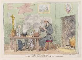 Edmund Burke ('Cincinnatus in retirement'), by James Gillray, published by  Elizabeth d'Achery, published 23 August 1782 - NPG D12313 - © National Portrait Gallery, London