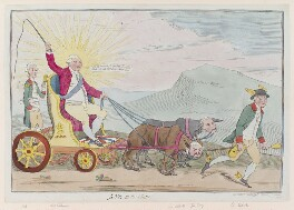 'Jove in his chair', by James Gillray, published by  Elizabeth d'Achery, published 11 September 1782 - NPG  - © National Portrait Gallery, London