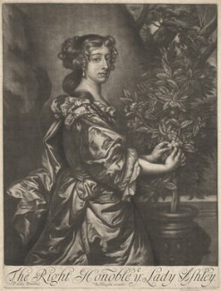 Dorothy Ashley-Cooper (née Manners), Countess of Shaftesbury, published by Richard Tompson, after  Sir Peter Lely, 1678-1679 - NPG  - © National Portrait Gallery, London
