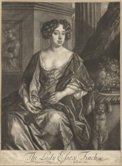 Essex Finch (née Rich), Countess of Nottingham, by Jan van der Vaart, published by  Richard Tompson, after  Sir Peter Lely, 1680 - NPG  - © National Portrait Gallery, London