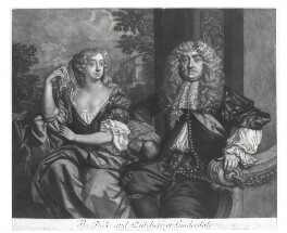 John Maitland, Duke of Lauderdale; Elizabeth Murray, Duchess of Lauderdale and Countess of Dysart, by Robert Williams, published by  Richard Tompson, after  Sir Peter Lely, 1678-1679 - NPG  - © National Portrait Gallery, London