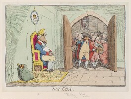 'Guy Vaux', by James Gillray, published by  William Humphrey, published circa June 1782 - NPG D12324 - © National Portrait Gallery, London