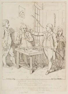 'Sampson overcome by a physitian' (Mr Bond?; Sir Sampson Wright), by James Gillray, after 1 October 1782 - NPG  - © National Portrait Gallery, London