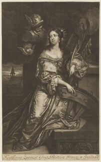 Catherine of Braganza as St Catherine, published by Richard Tompson, after  Jacob Huysmans, 1678-1679 (circa 1664) - NPG  - © National Portrait Gallery, London