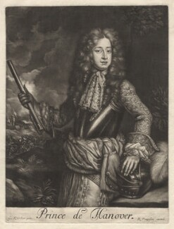 King George I when Prince of Hanover, published by Richard Tompson, after  Sir Godfrey Kneller, Bt, 1680 - NPG  - © National Portrait Gallery, London