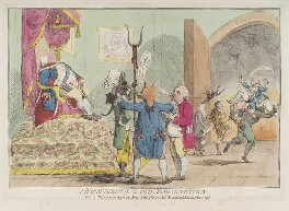 'A warm birth for the old administration', by James Gillray, published by  William Humphrey - NPG D12332