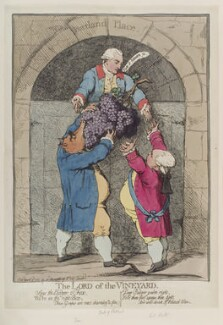 'The lord of the vineyard', by James Gillray, published by  William Humphrey - NPG D12333