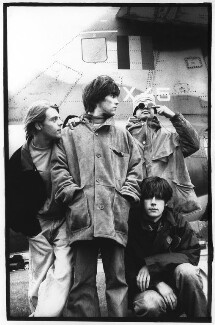 The Stone Roses (Mani (Gary Mountfield); Ian Brown; Reni; John Squire), by Pennie Smith - NPG x87818