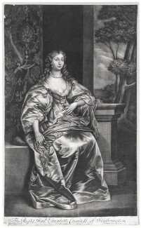 Elizabeth Wriothesley (née Leigh), Countess of Southampton, published by Richard Tompson, after  Sir Anthony van Dyck, circa 1683 - NPG  - © National Portrait Gallery, London
