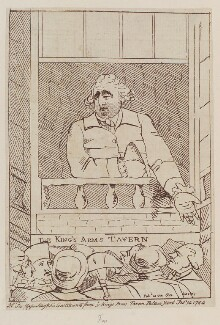 Charles James Fox ('Mr Fox appealing to his constituents from ye Kings Arms Tavern Palace Yard Feby 14 1784'), by Unknown artist, circa February 1784 - NPG  - © National Portrait Gallery, London