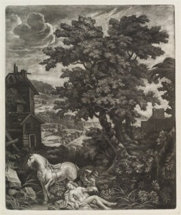 Good Samaritan, by Robert Robinson, published by  Isaac Beckett - NPG D11855