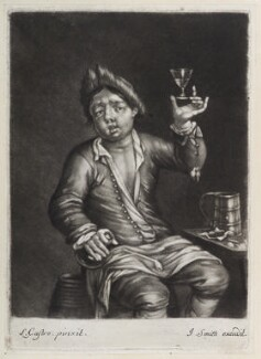 Man raising his glass, published by John Smith, after  Laureys (Lorenzo) a Castro, circa 1683-1729 - NPG D11856 - © National Portrait Gallery, London