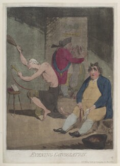 'Evening consolation' (Edmund Burke; Frederick North, 2nd Earl of Guilford; Charles James Fox), by James Gillray, published by  Hannah Humphrey - NPG D12349