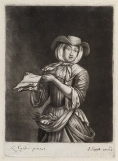 Ballad singer, published by John Smith, after  Laureys (Lorenzo) a Castro - NPG D11857