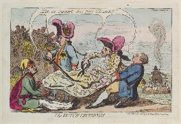 'The Dutch divisions', by James Gillray, published by  Samuel William Fores, published 23 June 1787 - NPG  - © National Portrait Gallery, London