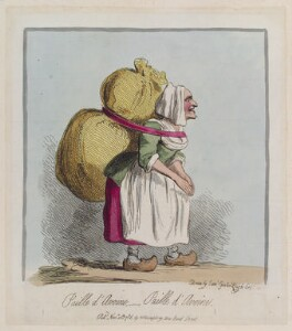 'Paille d'Avoine, - paille d'Avoine', by James Gillray, published by  Hannah Humphrey, published 10 November 1786 - NPG  - © National Portrait Gallery, London