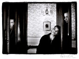 Roland Gift with two other band members of 'Fine Young Cannibals', by Andrew Catlin - NPG x35984