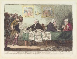 'The board of controul, or the blessings of a Scotch dictator', by James Gillray, published by  R. Phillips - NPG D12359