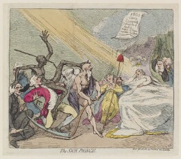 'The sick prince', by James Gillray, published by  Samuel William Fores, published 16 June 1787 - NPG D12365 - © National Portrait Gallery, London