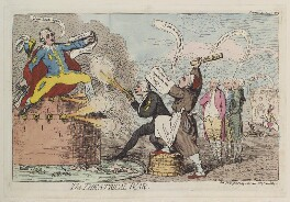 'The theatrical war', by James Gillray, published by  Samuel William Fores, published 30 June 1787 - NPG  - © National Portrait Gallery, London
