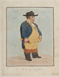 Charles Howard, 11th Duke of Norfolk ('A natural crop;- alias- a Norfolk dumpling'), by James Gillray, published by  Hannah Humphrey, published 21 September 1791 - NPG D12367 - © National Portrait Gallery, London