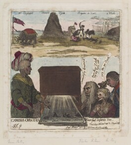 'Camera-obscura', by James Gillray, published by  Samuel William Fores, published 9 March 1788 - NPG D12380 - © National Portrait Gallery, London