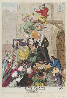 'State-jugglers', by James Gillray, published by  Samuel William Fores - NPG D12381