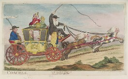 '-Coaches', by James Gillray, published by  Samuel William Fores, published 20 May 1788 - NPG  - © National Portrait Gallery, London