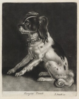 Dog Sitting, published by John Smith, after  Abraham Danielzsoon Hondius (de Hont or de Hond) - NPG D11884