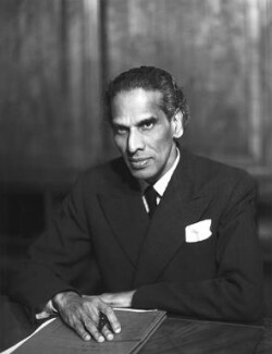 Vengalil Krishnan Krishna Menon, by Elliott & Fry, 30 November 1950 - NPG  - © National Portrait Gallery, London