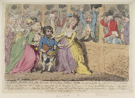 'Harry Jenkins, the masculine and feminine bellows mender', by James Gillray, published by  Hannah Humphrey - NPG D12388