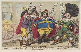'King Henry IVth the last scene', by James Gillray, published by  Samuel William Fores, published 29 November 1788 - NPG D12391 - © National Portrait Gallery, London