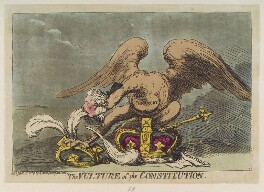 William Pitt ('The vulture of the constitution'), by James Gillray, published by  Hannah Humphrey, published 3 January 1789 - NPG  - © National Portrait Gallery, London