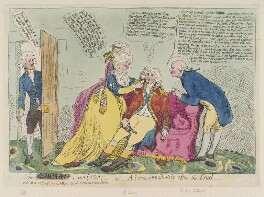 'The coward comforted, - or - a scene immediately after the duel', by James Gillray, published by  James Aitken - NPG D12404