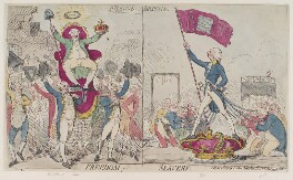 'France freedom Britain slavery', by James Gillray, published by  James Aitken - NPG D12406
