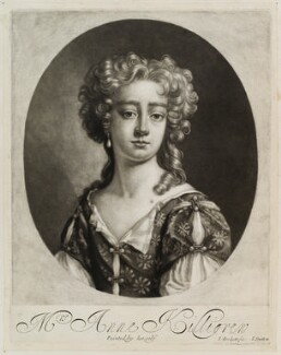 Anne Killigrew, by Isaac Beckett, published by  John Smith, after  Anne Killigrew - NPG D11896