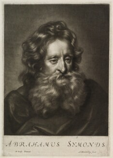 Abraham Simon, by Abraham Blooteling (Bloteling), after  Sir Peter Lely - NPG D11902