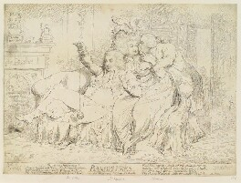 'Bandelures' (King George IV; Maria Anne Fitzherbert (née Smythe); Richard Brinsley Sheridan), by James Gillray, published by  Samuel William Fores - NPG D12412