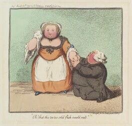 'Oh! That this too too solid flesh would melt', by James Gillray, published by  Hannah Humphrey - NPG D12413