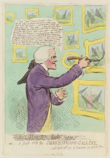 John Boydell ('The monster broke loose - or - a peep into the Shakespeare Gallery'), by James Gillray, published by  Hannah Humphrey - NPG D12418